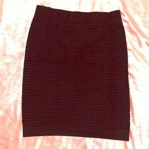 Dresses & Skirts - BCBG Black mini ribbed skirt